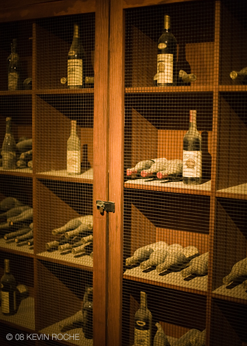 The collection includes bottles from the Inglenook days