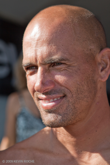 Surfing's nine time world champion, Kelly Slater